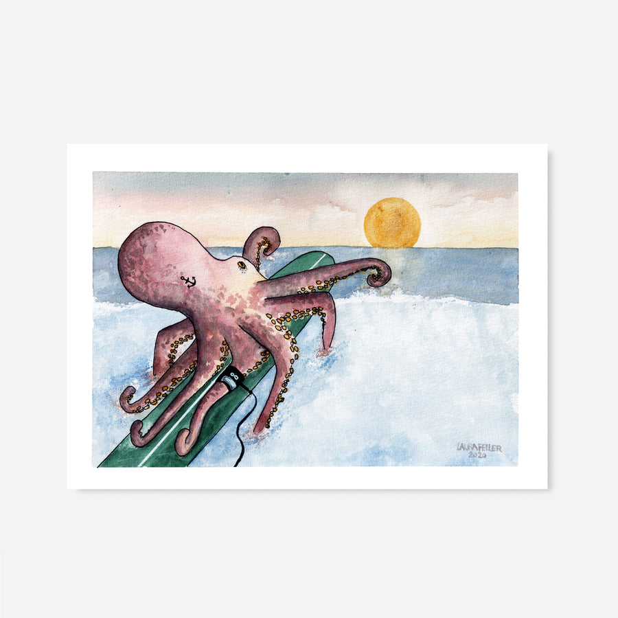 >>Surfing Octopus - Sunset <<