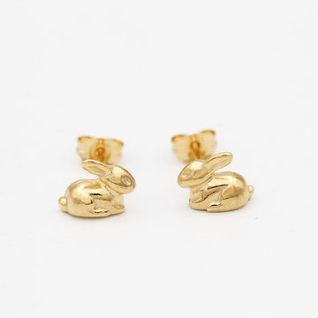 Rabbit Stud Earrings/ 14ct Gold Plated