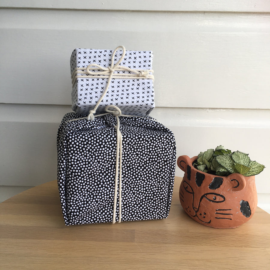 Reusable Gift Wrap - Black & White (set of three)