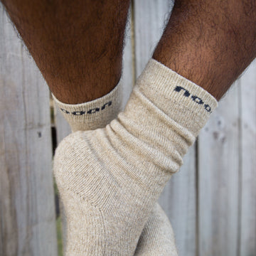N line Socks, Natural
