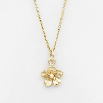 Forget Me Not Necklace/ 9ct Yellow Gold