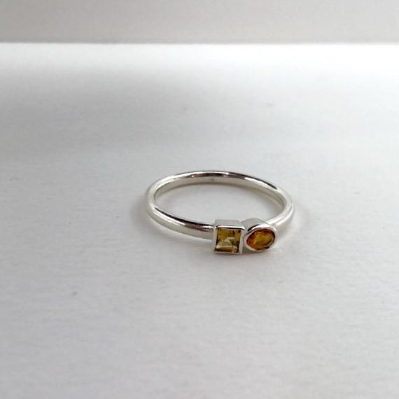citrines in silver