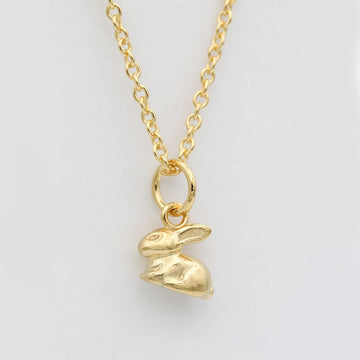 Rabbit Charm Necklace/ 14ct Gold Plated