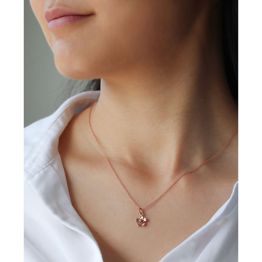 Forget Me Not Necklace/ 9ct Rose Gold