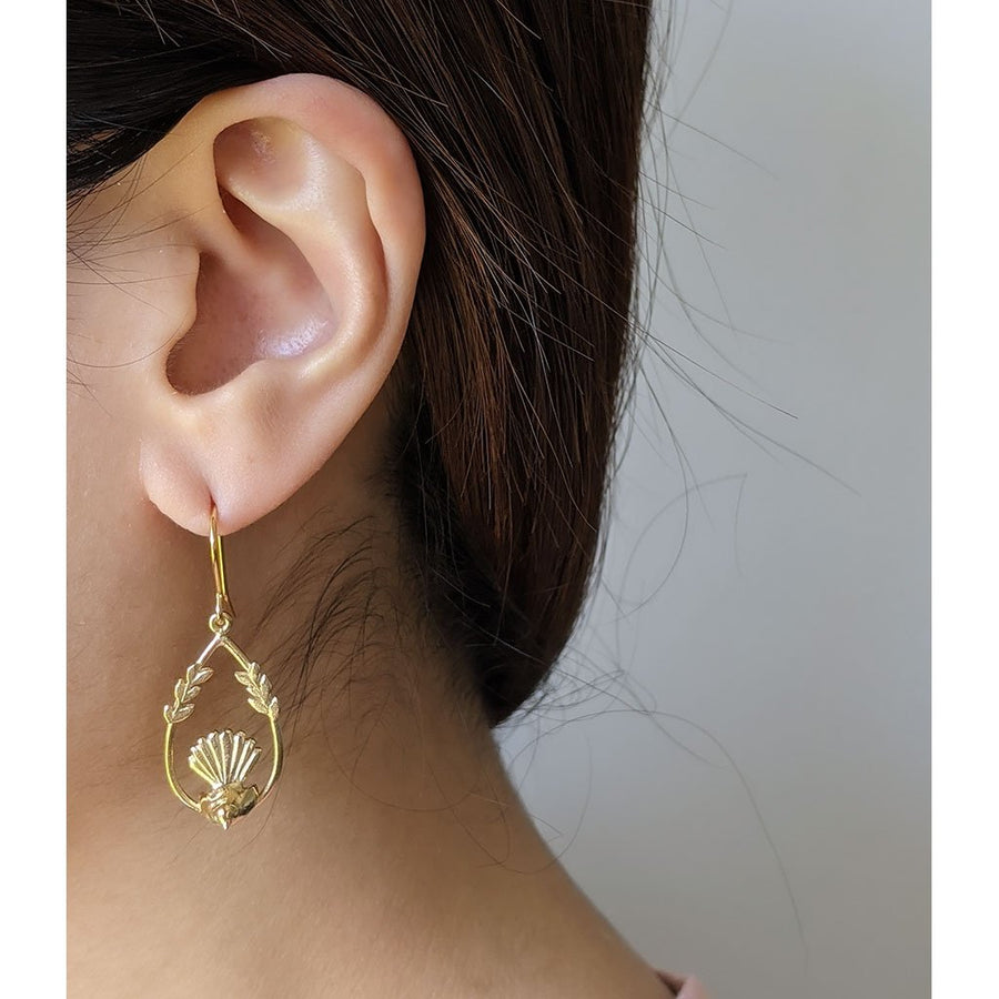 Fantail Earrings/ 14ct Gold Plated
