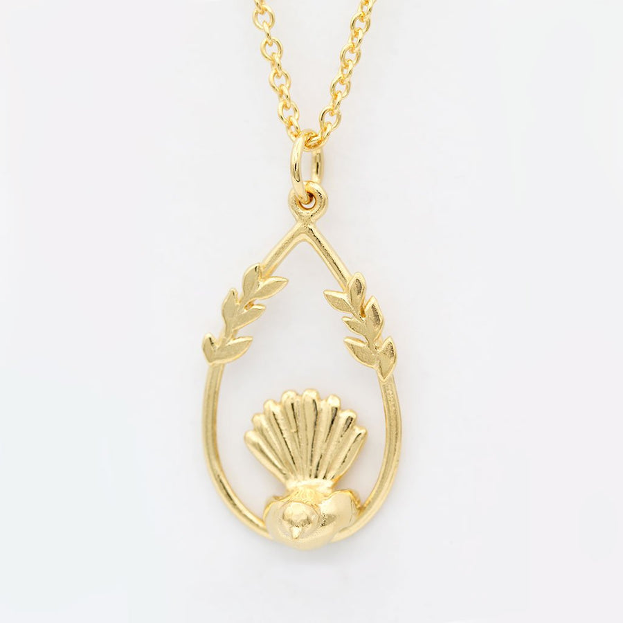 Fantail Necklace/ 14ct Gold Plated