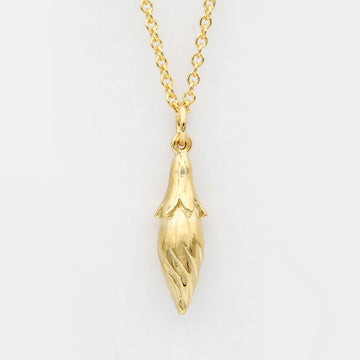 Flower Bud Necklace/ 14ct Gold Plated