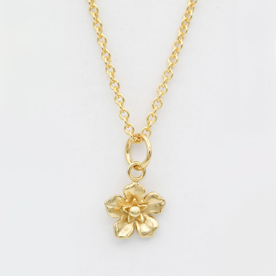 Forget Me Not Necklace/ 14ct Gold Plated