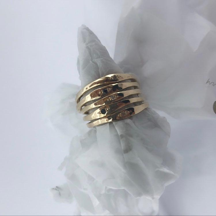 recycled gold diamond rings