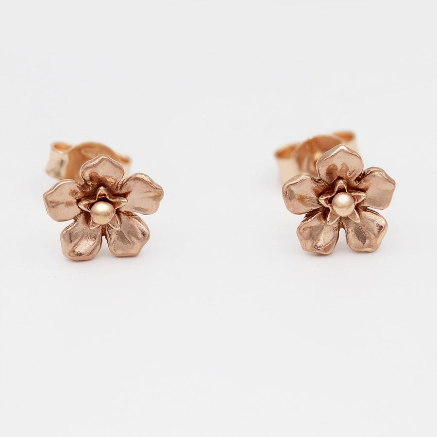 Forget Me Not Earrings/ 9ct Rose Gold