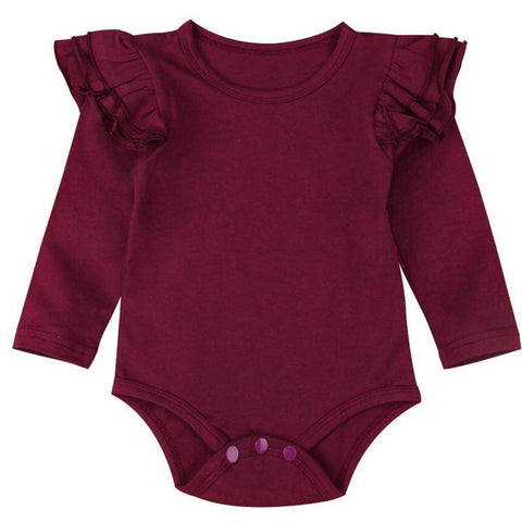Flutter Romper - Burgandy Long
