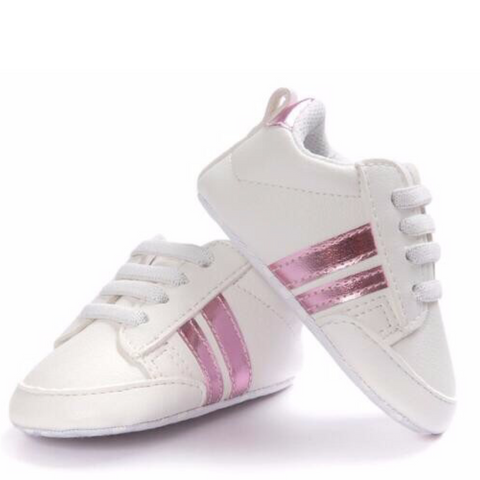 Pumps - White & Pink Stripes