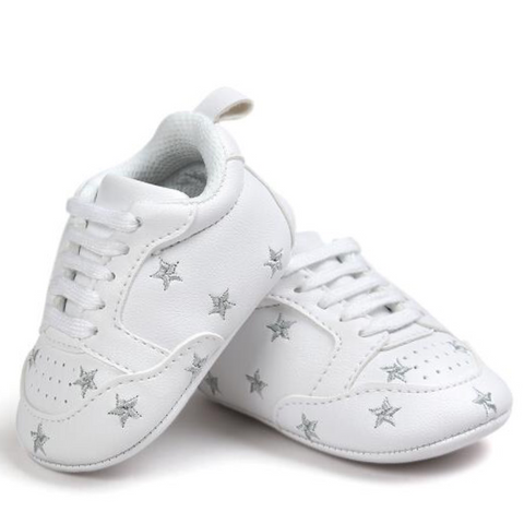 Pumps - White & Silver Stars