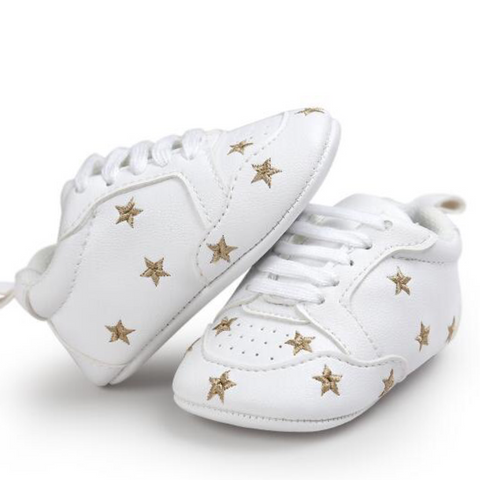 Pumps - White & Gold Stars