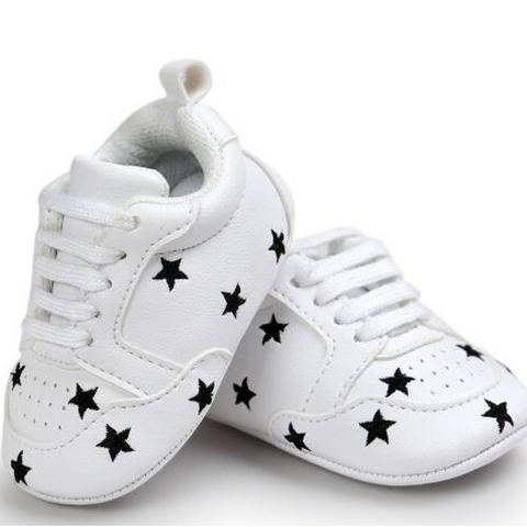 Pumps - White & Black Stars