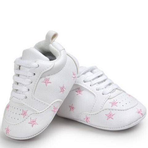 Pumps - White & Pink Stars