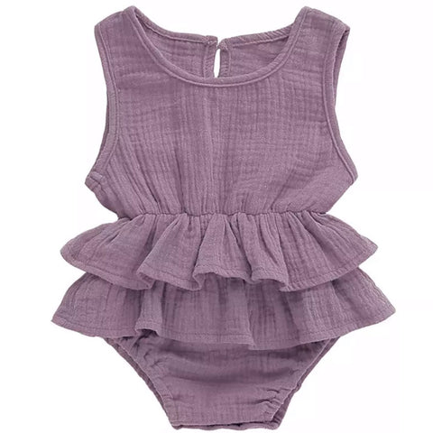 Peplum Romper Light Purple