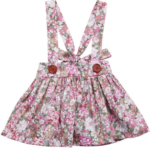 Pinafore Skirt Pink Floral