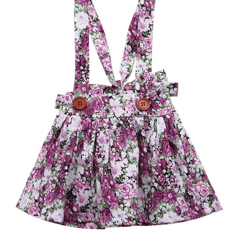 Pinafore Skirt Purple Floral