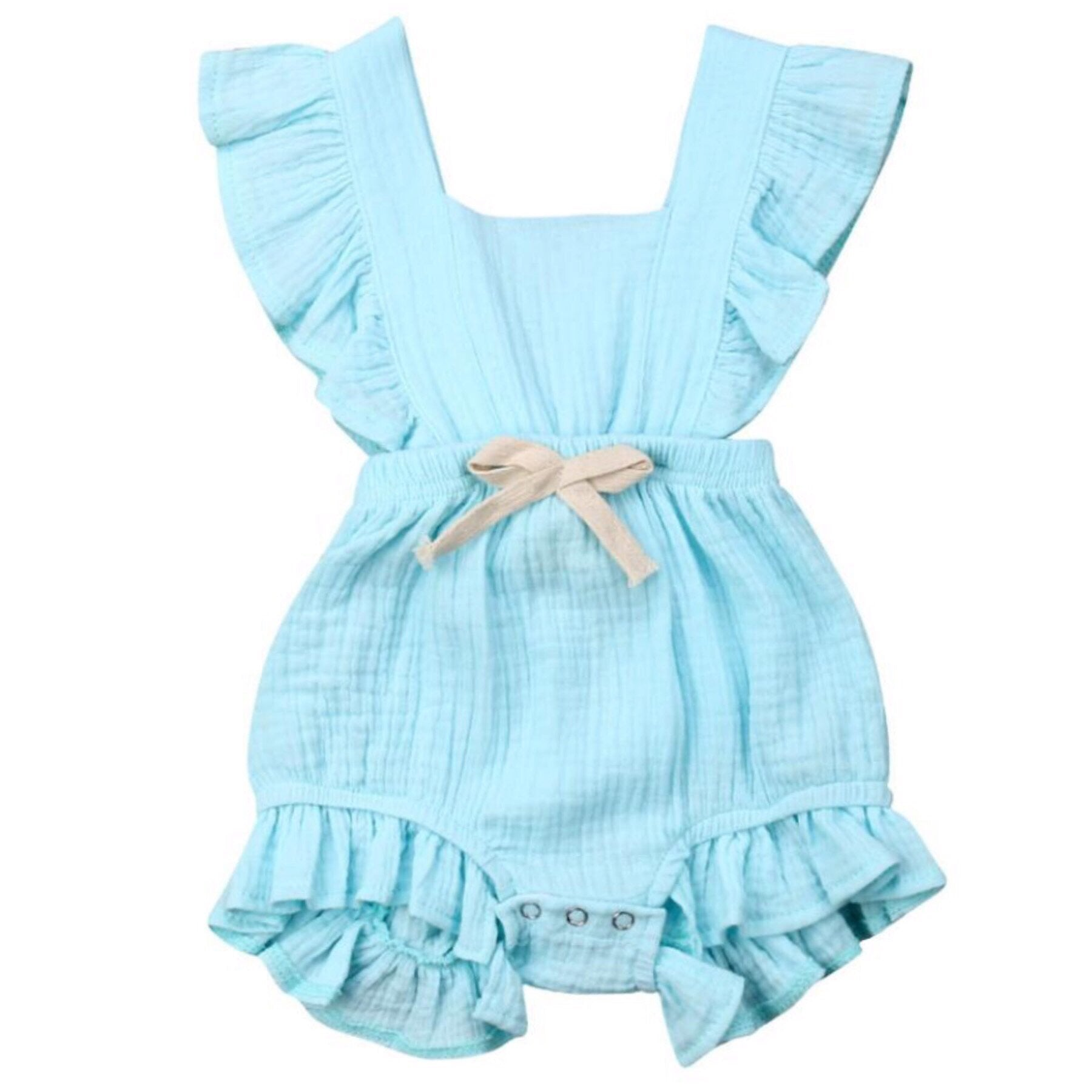 Maybell Romper Blue