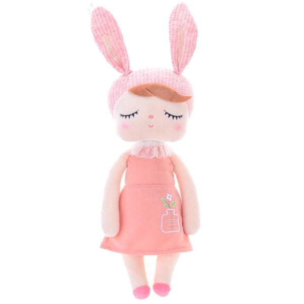 Hug Me Peach Flower Plush Doll