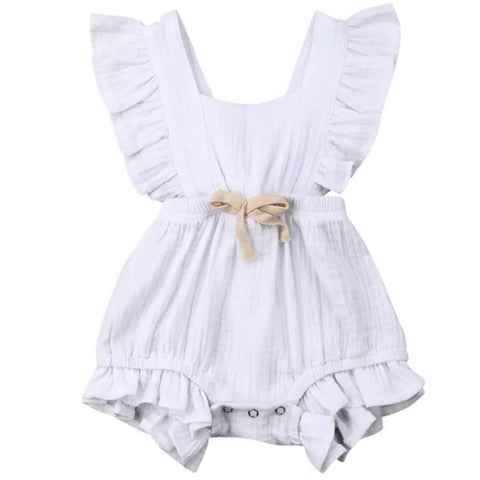 Maybell Romper White