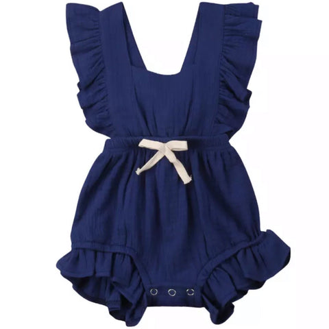 Maybell Romper Navy