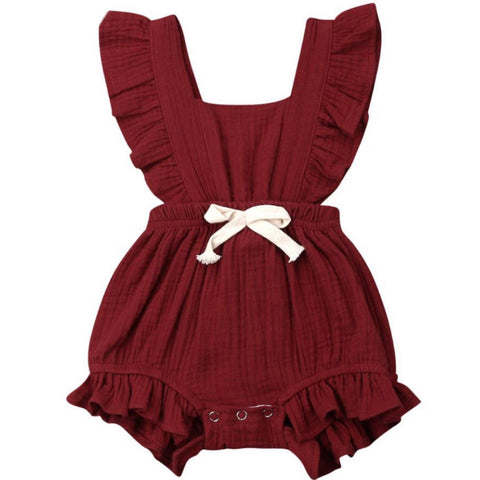 Maybell Romper Brown