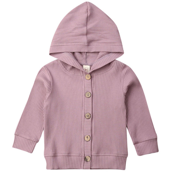 Ribbed Hoody Purple