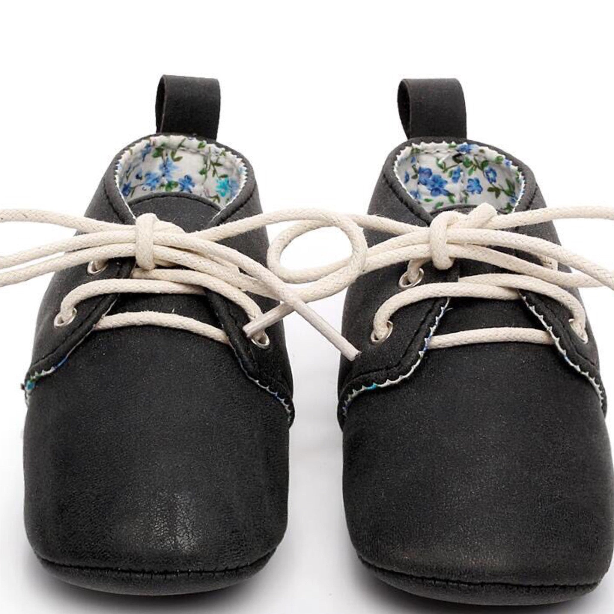 Little ee Baby Oxfords Black Baby Lace Up Boots