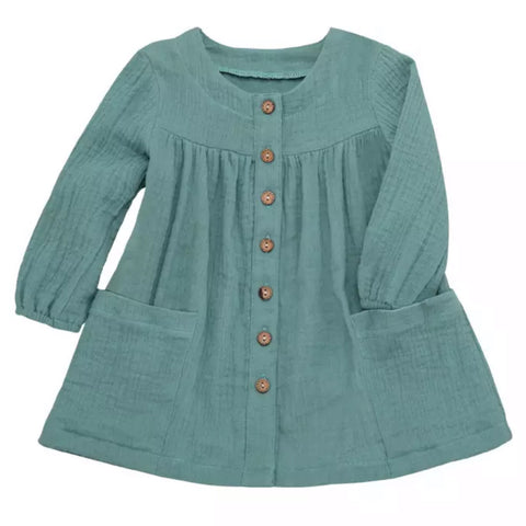 Missy Smock Dress Emerald