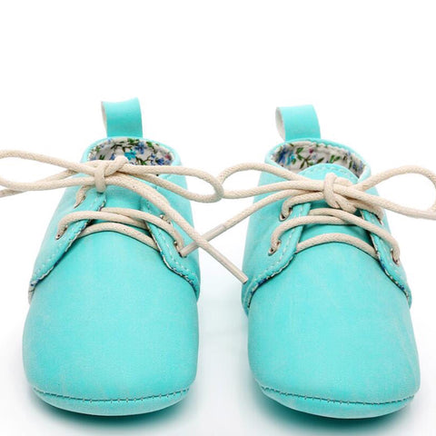 Baby Oxfords Aqua
