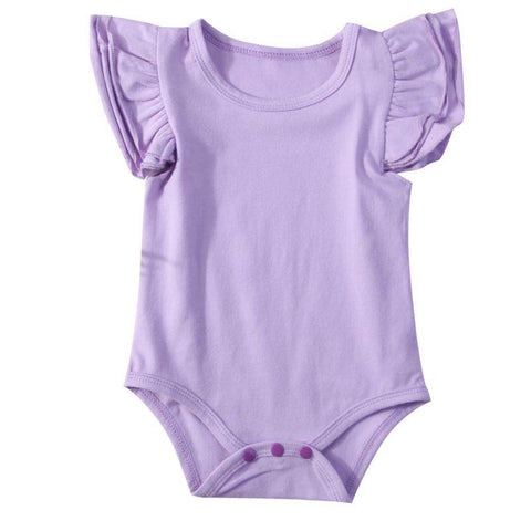 Flutter Romper Short Purple