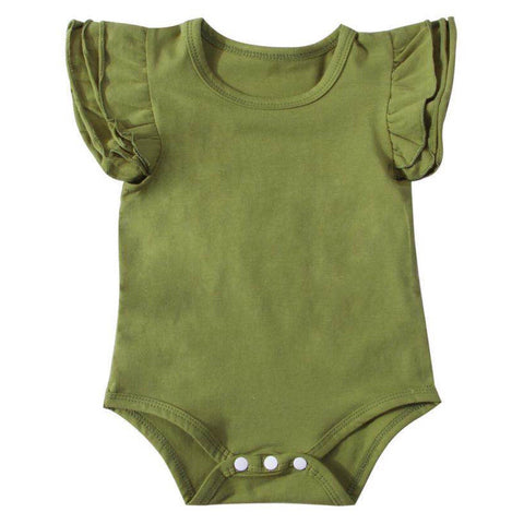 Flutter Romper Short Green
