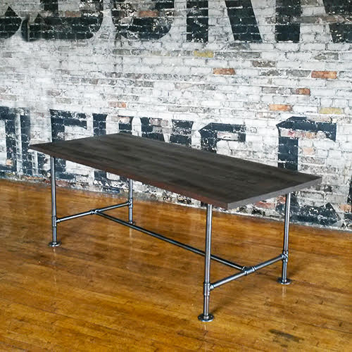 Solid Wood table with Archer Base - Windsorchrome