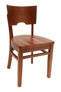 Wood chair Solid Back - Windsorchrome