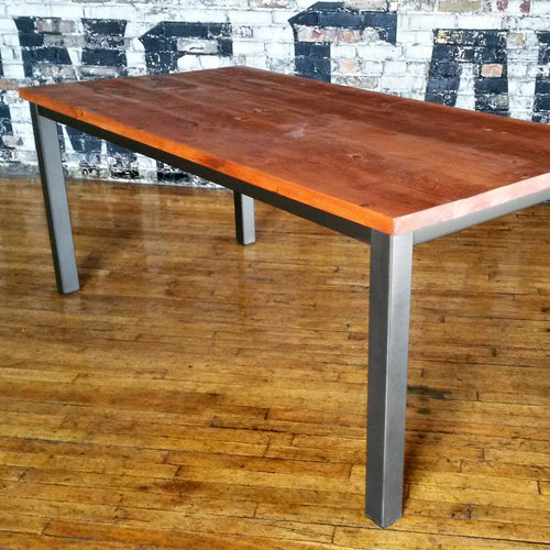 Solid Wood Table with Jackson Base - Windsorchrome