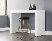 Load image into Gallery viewer, Matthews Swivel Barstool - Champagne Gold - Onyx - Windsorchrome