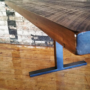 Solid Wood table with T Base - Windsorchrome
