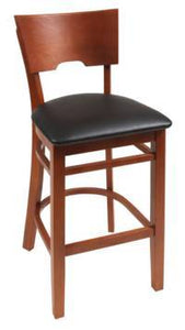 Wood stool Solid Back - Windsorchrome