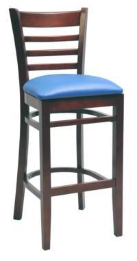 Wood stool Ladder back - Windsorchrome