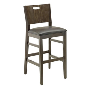 Wood stool Axtrid - Windsorchrome