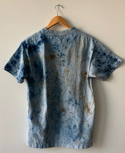 Load image into Gallery viewer, Indigo AKA Blue Gold Dust and Botanical Dyed T-Shirt-MEDIUM