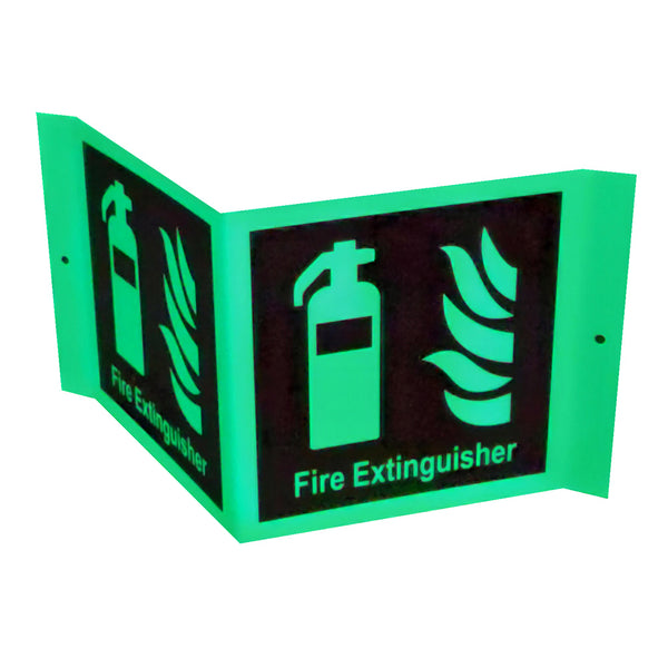 Fire Extinguisher Signage (A Frame, Glow In Dark)