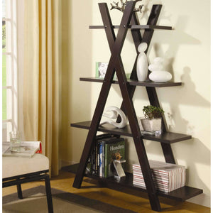 "Contemporary ""X"" Bookcase"