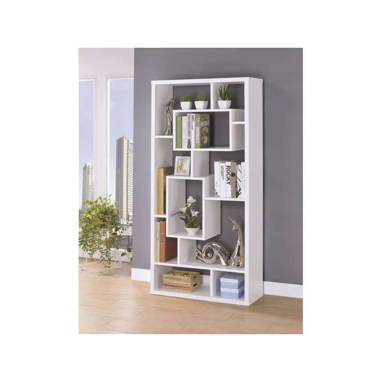 10-Shelf Bookcase White