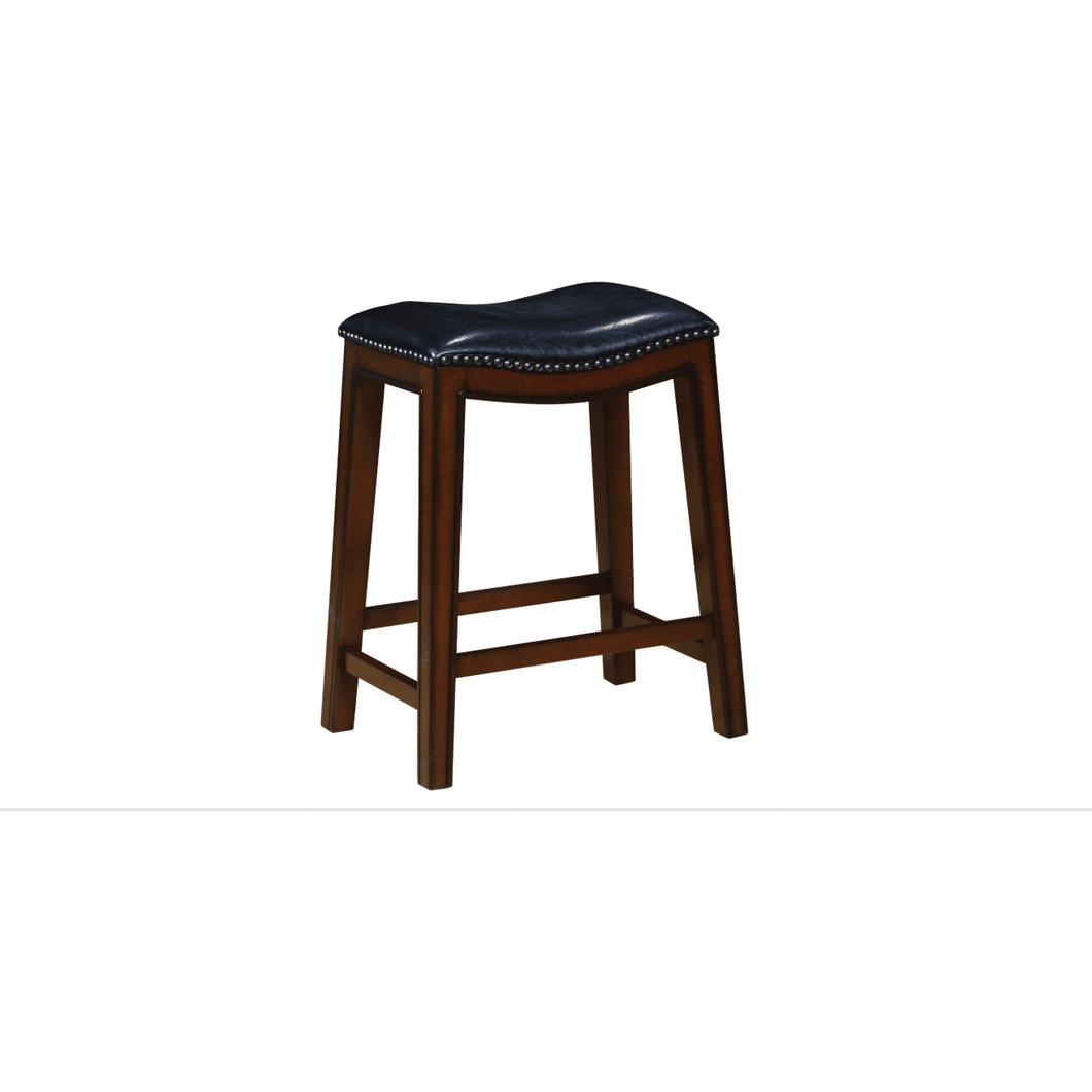 Backless Counter Height Stools Burnished Cappuccino And Black (Set Of 2)