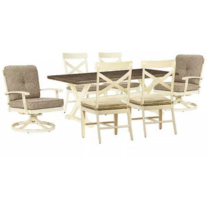 Preston Bay Outdoor Dining Table and 6 Chairs