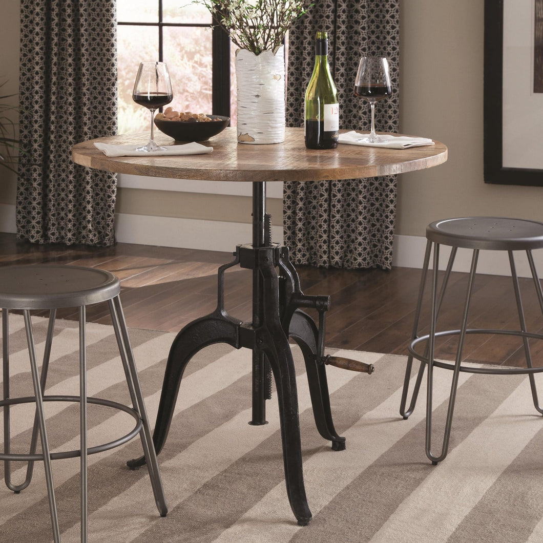 Clarkson Adjustable Dining Table Natural And Black