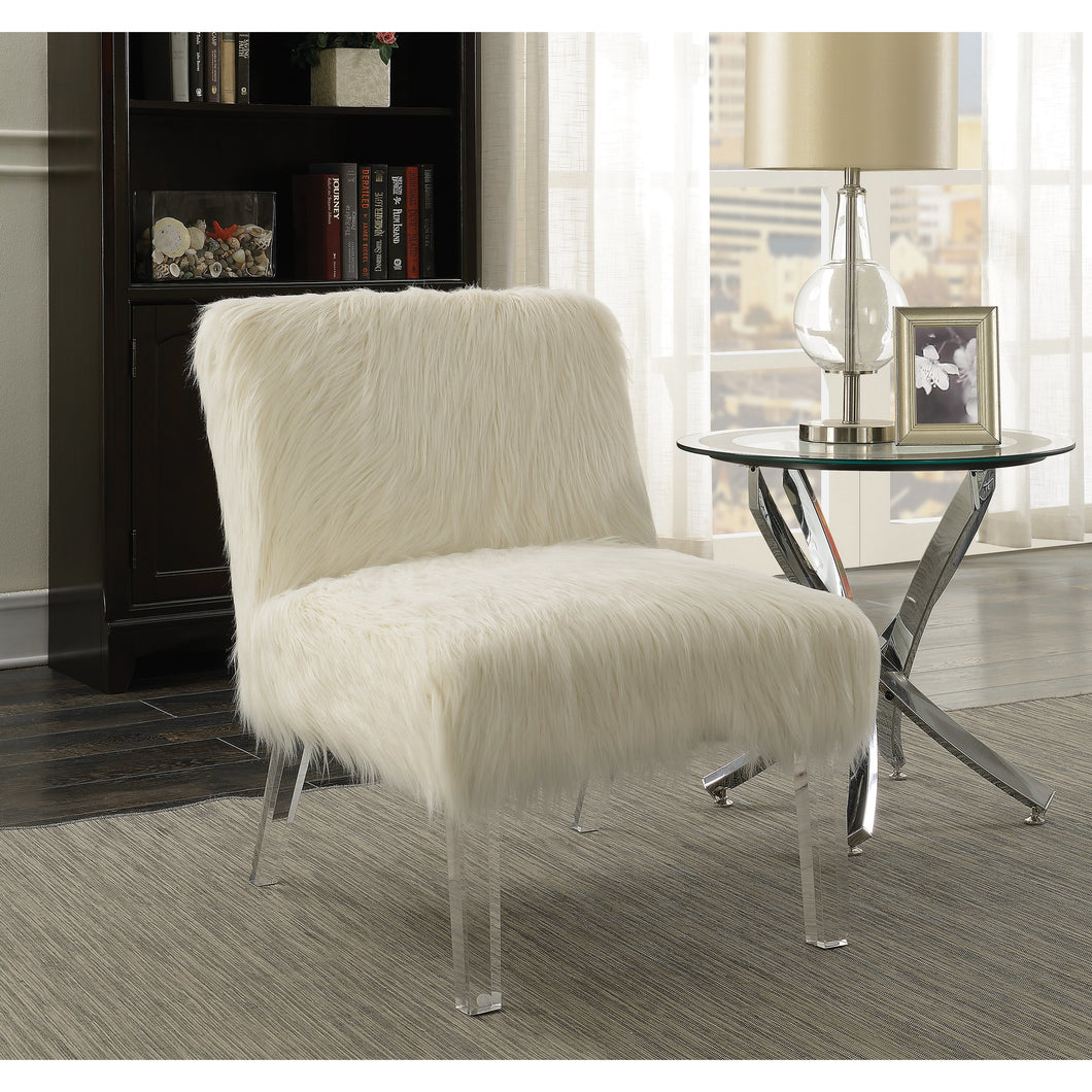 Faux Sheepskin Upholstered Accent Chair